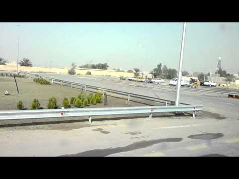 Iraq Baghdad Airport - Driving in the security zone of the Airport (HD)