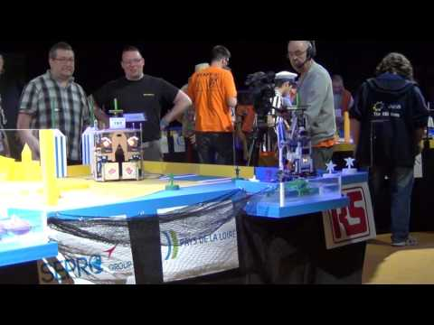 2016 - PM-ROBOTIX 67 vs 31 Wall-e'L - Match n°1 - Coupe de France Robotique 2016