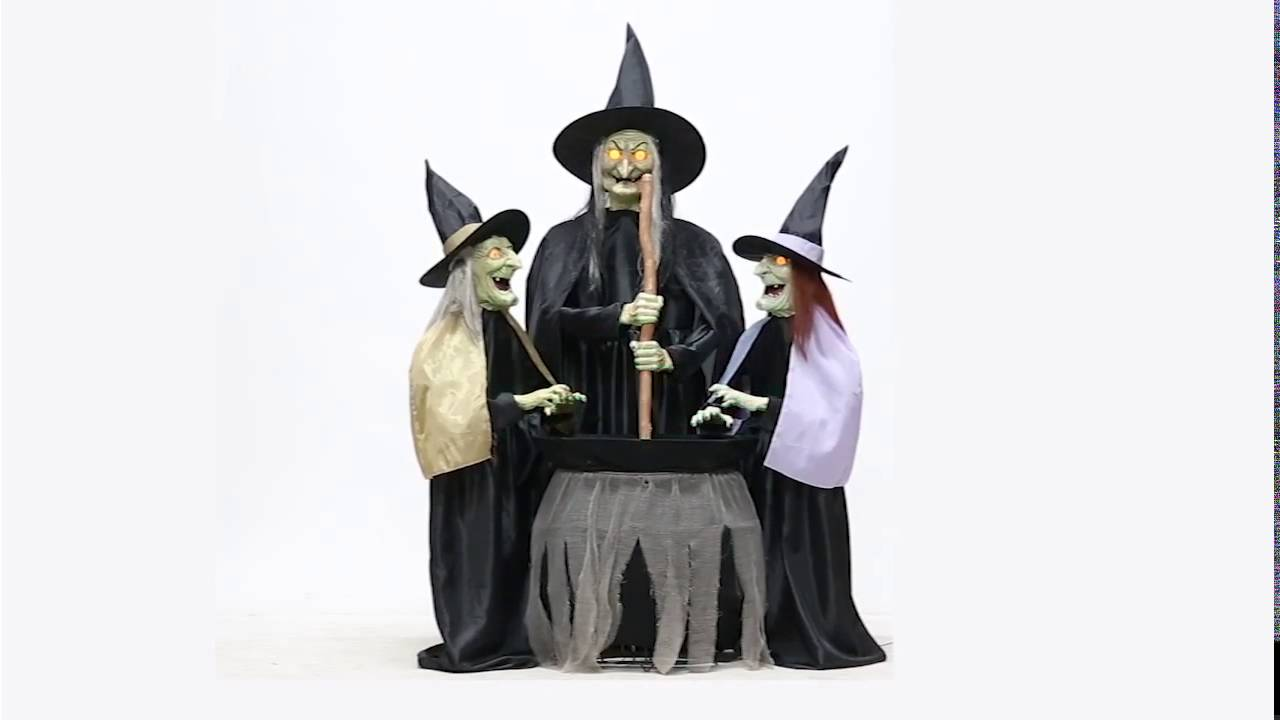 stitch witch sisters animated prop 6ft lifesize halloween haunted