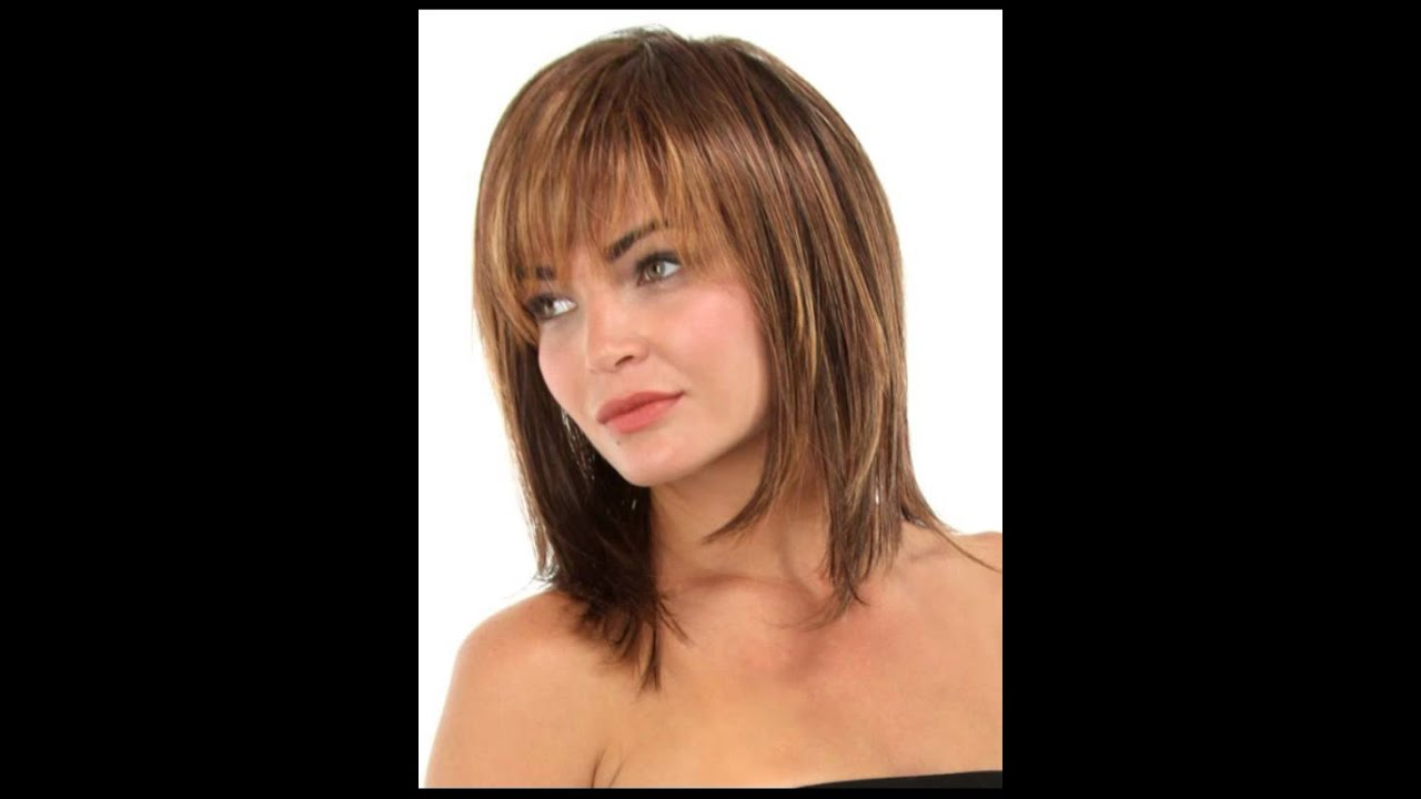 Medium Hairstyles For Women Over 40 With Bangs 2016
