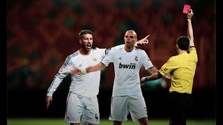 راموس على رأس القائمة- تشكيل اللاعبين الأكثر طردا في كرة القدم