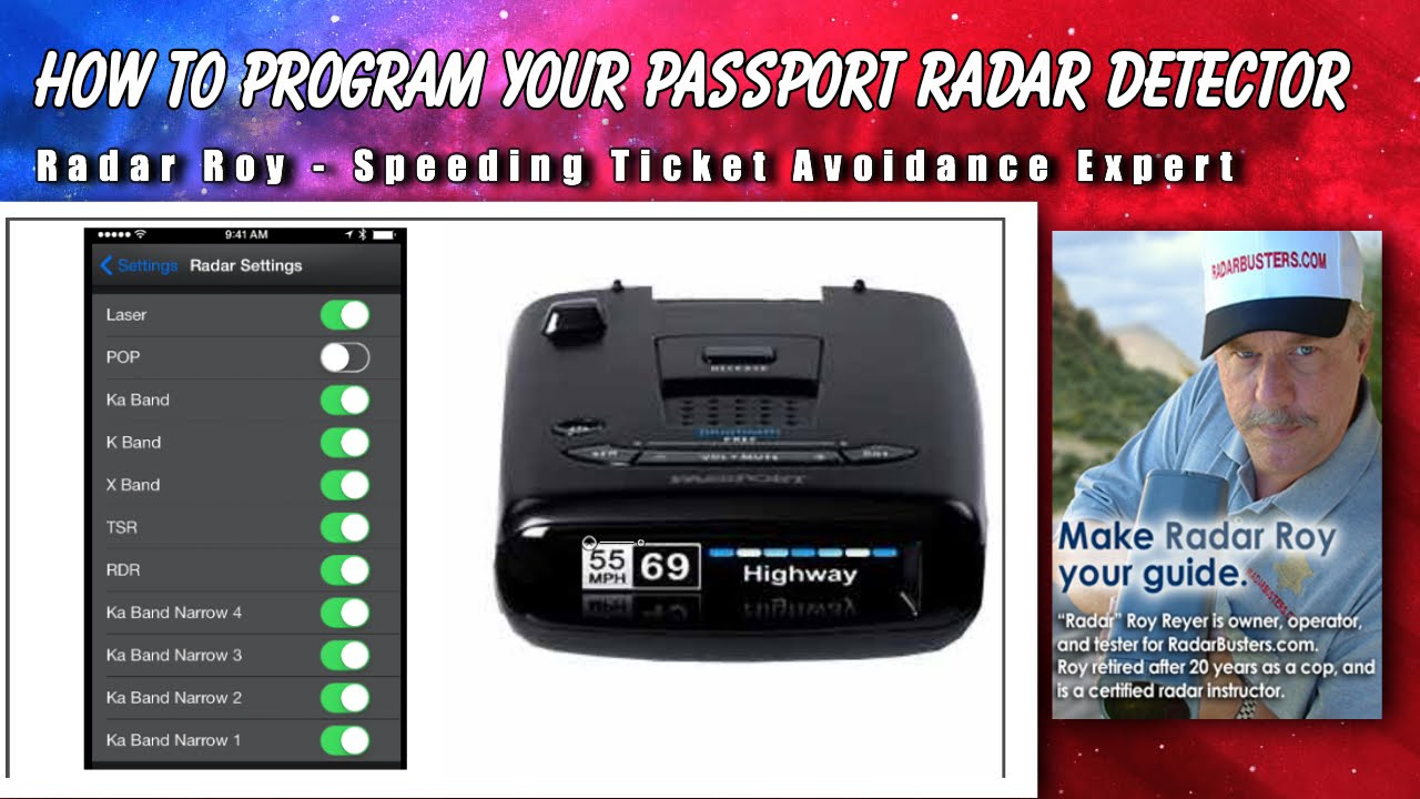 Passport Radar Detector >> How To Program Your Escort Passport Radar Detector Radar Roy