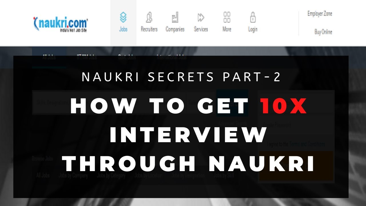 How to get more Interview calls through Naukricom Part 2 YouTube
