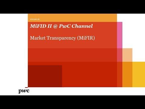 MiFID II @ PwC - Market Transparency