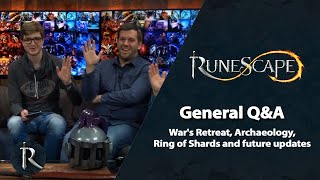 War's Retreat, Archaeology, Ring of Shards, future updates - RuneScape General Q&A (Jan 2020)