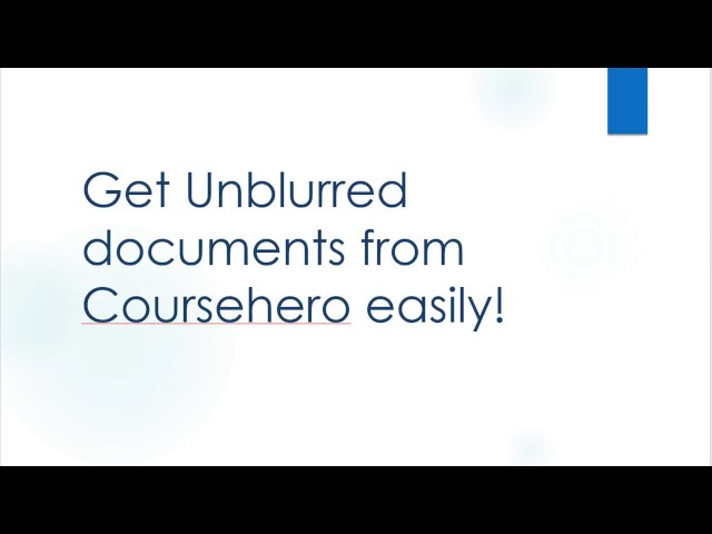 How to Get Unblurred Coursehero Documents Free- (With Proof