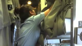 How an Upper Berth is made on a Via Rail train