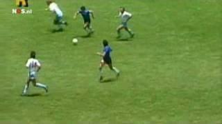 Diego Maradona Argentina England 2 0 1/4 Finals World Cup 1986 Dutch commentary