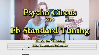 Psycho Circus - KISS (Bass Cover with Tabs)