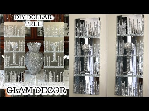 DOLLAR TREE DIY GLAM MIRRORED WALL SCONCES | DIY GLAM HOME DECOR IDEAS