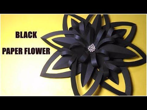 How To Make Black Paper Flower | Halloween Flower | Christmas Decoration | InnoVatioNizer
