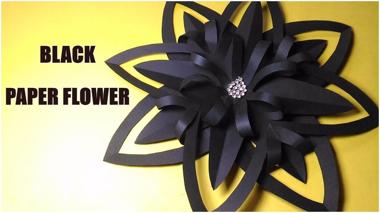 How to make black paper flower halloween flower christmas paperflower decoration halloweenflower mightylinksfo