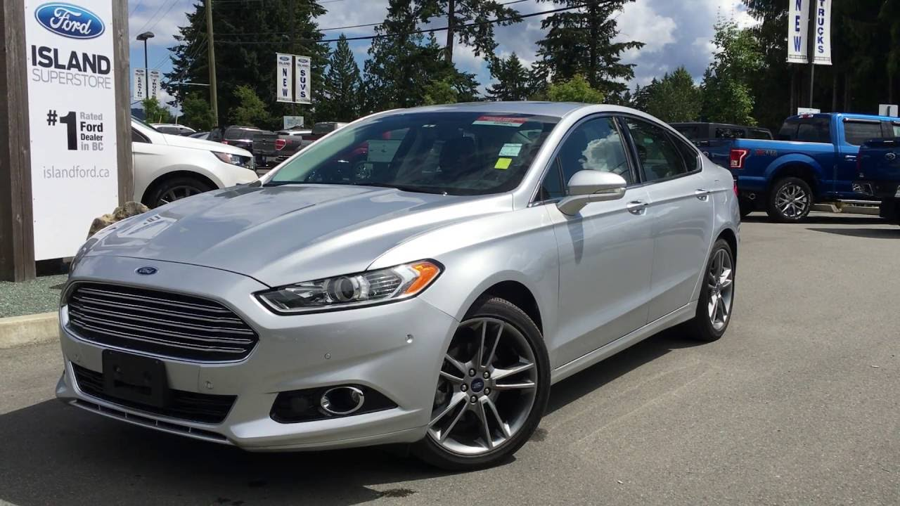 2015 Ford Fusion Titanium Awd Ecoboost Moonroof Review