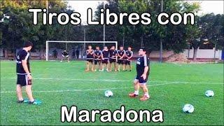 Diego Armando Maradona te enseña como patear Tiros Libres | Fútbol Social thumbnail