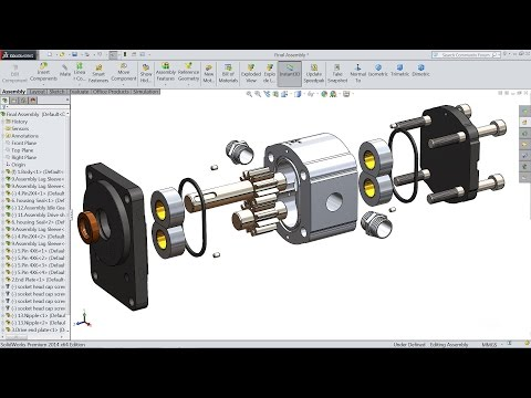 Solidworks tutorial | How to Make Hydraulic Pump in Solidworks