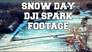 Snowy Day with DJI Spark