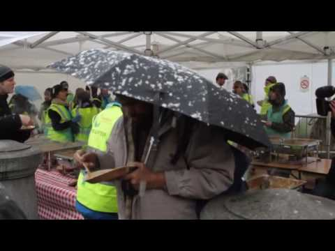 Feeding the five thousand in London