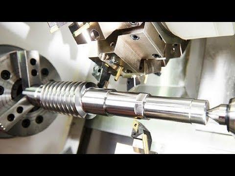 Modern High Speed CNC Lathe Machine Working, CNC Milling Machine Metal