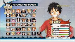 One Piece: Pirate Warriors 2 Opening and All Characters [PS3]