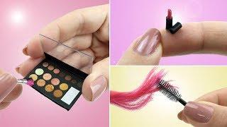 3 COISAS DE BELEZA para Barbie e Outras Bonecas - Maquiagem, Batom e Escova