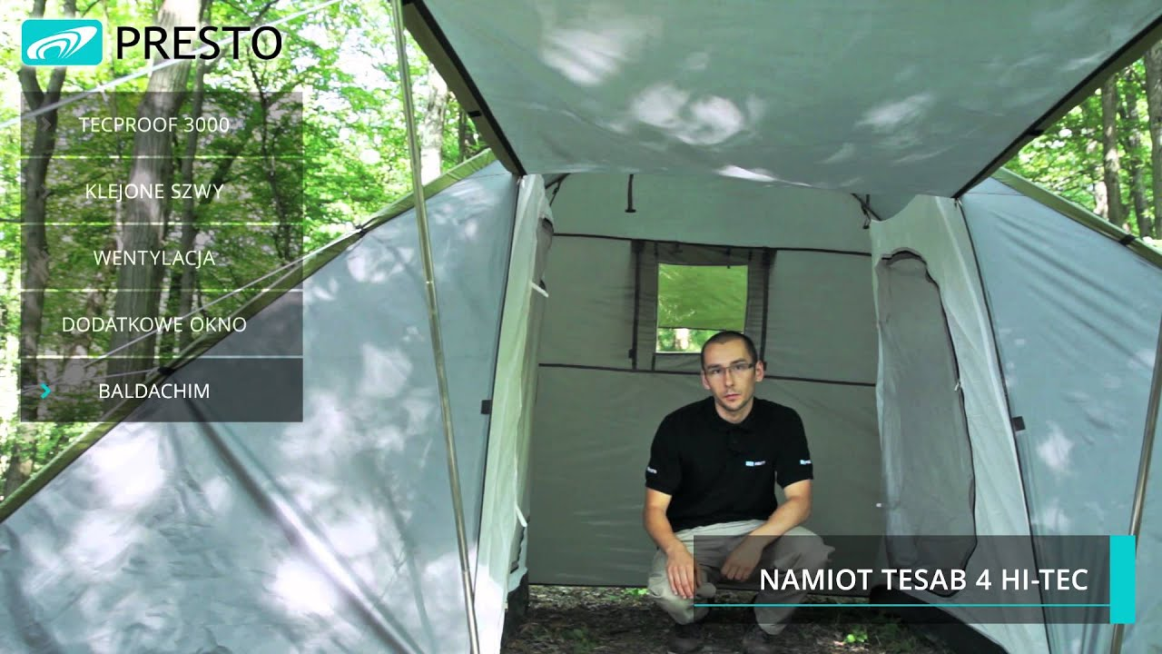 nowe obrazy podgląd najlepsza moda Namiot turystyczny Tesab 4 Hi-Tec na www.sklep-presto.pl