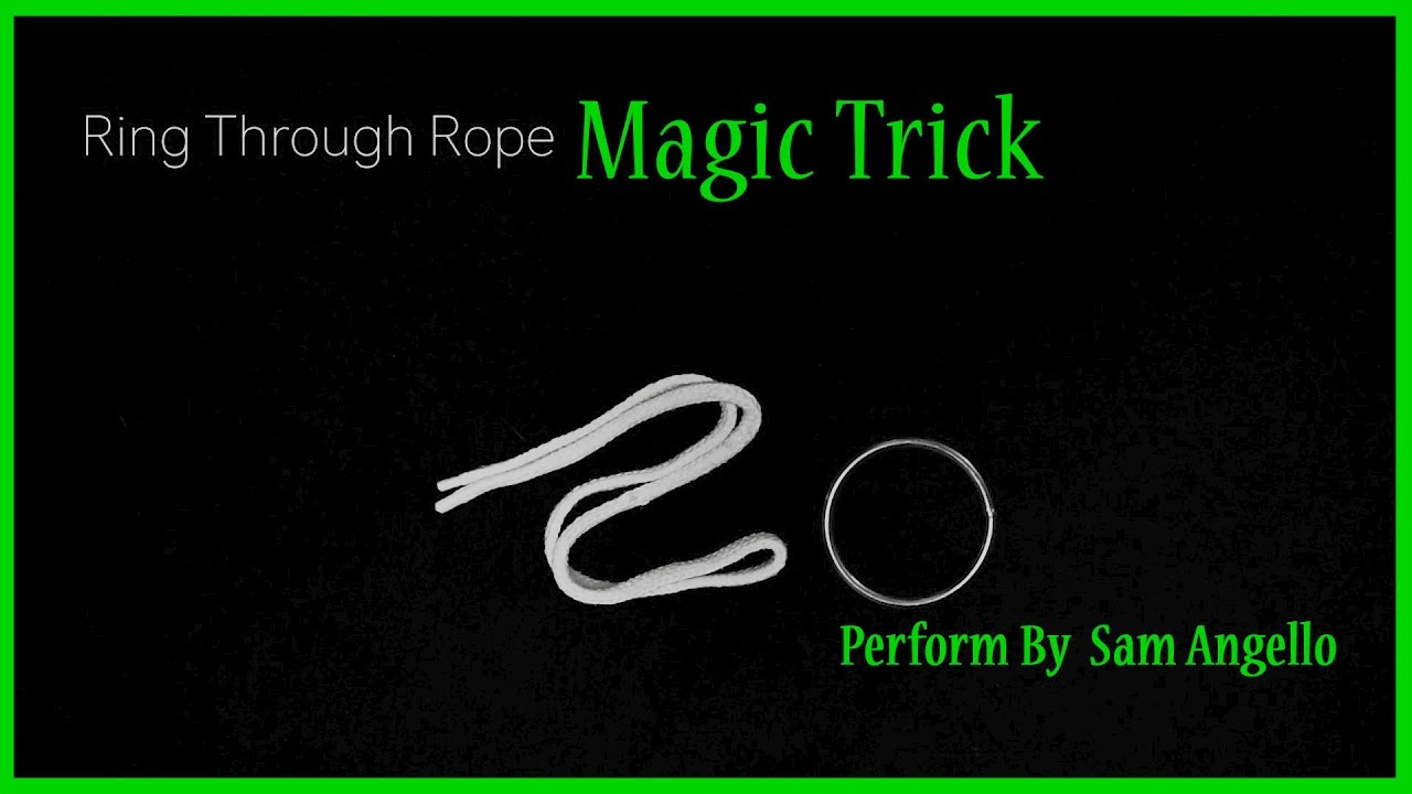 Magic Trick With Ring And Rope