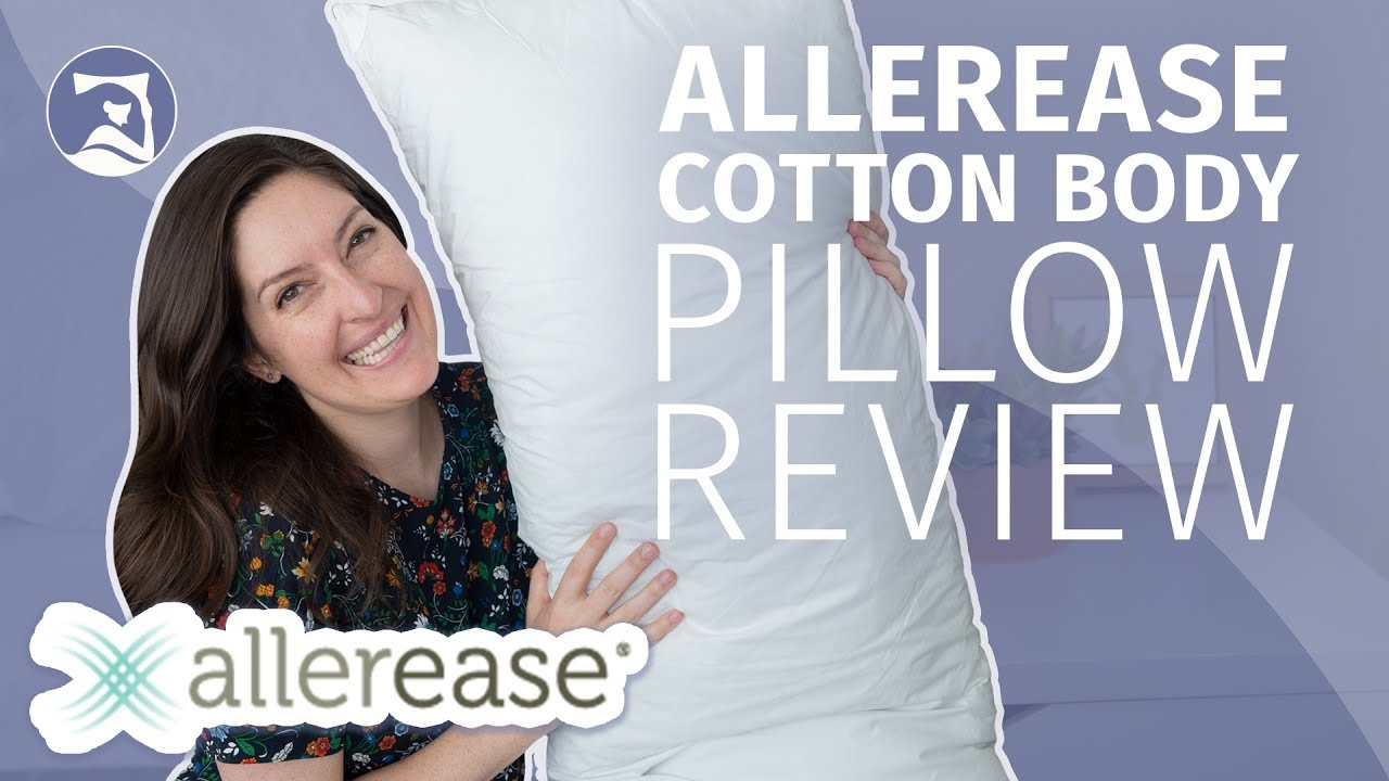 allerease body pillow review hypoallergenic support