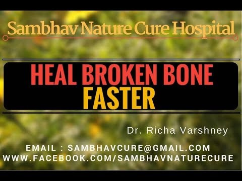 How to heal fracture   broken bone faster in hindi video - Acupressure Points Home Remedies