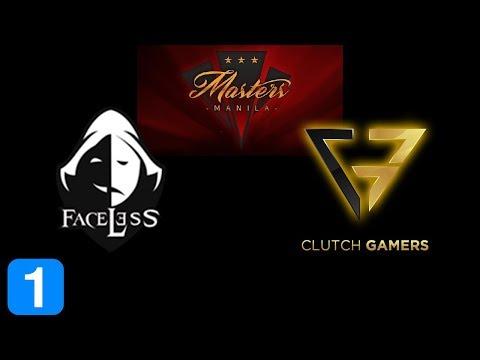 Faceless vs Clutch Gamers Game 1  Masters Manila 2017 Highlights Dota 2