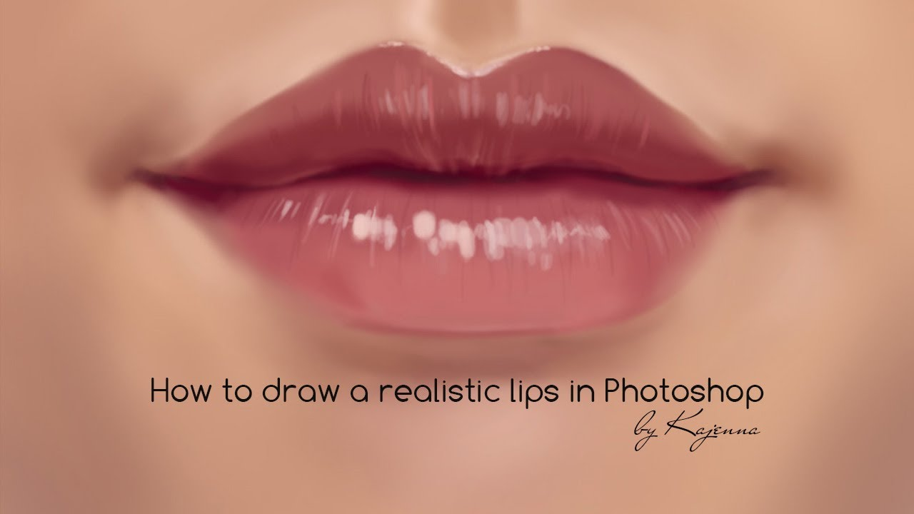 How to draw a lips in Photoshop / Tutorial by Kajenna ...