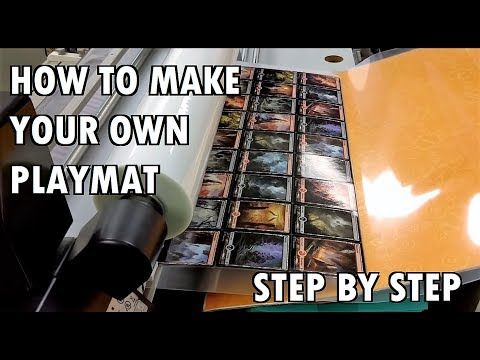 How To Make YOUR OWN Playmat | Magic The Gathering | How It's Made
