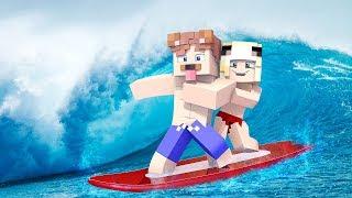 WIR SURFEN AUF EINEM TSUNAMI IN MINECRAFT!