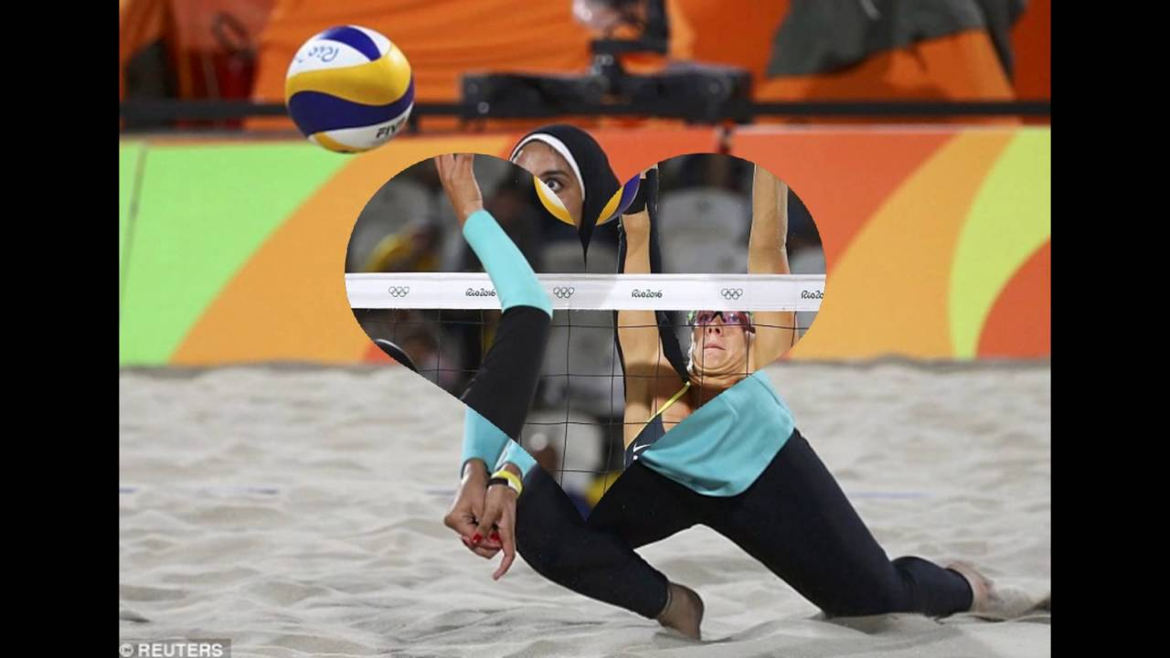 Egyptian And German Beach Volleyball Players Olympic Youtube