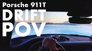 POV Porsche 911 T  Driften auf gefrorenem See   Matthias Malmedie