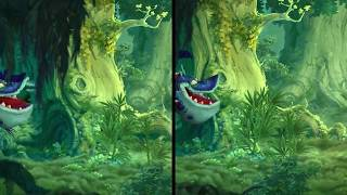 Rayman Legends - Switch vs. Wii U - Visual Comparison (Direct-Feed Gameplay)