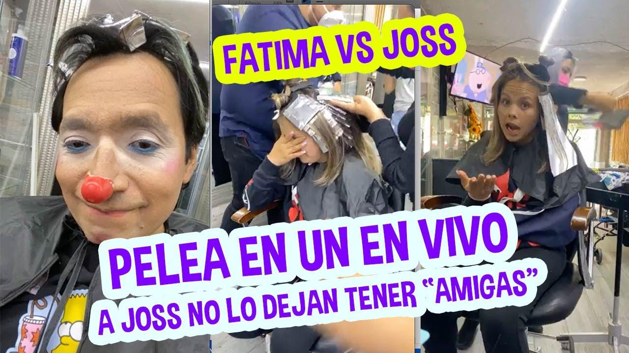 PELEAN EN UN EN VIVO ENTRE FATIMA Y JOSS / A JOSS NO LO DEJAN TENER AMIGAS  / LOS DESTRAMPADOS