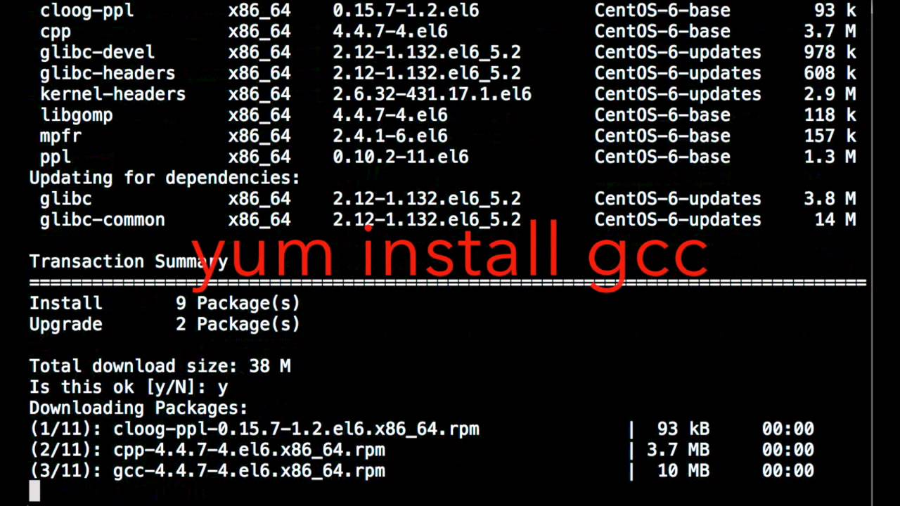 how to install gcc on rhel,linux,centos,gcc install