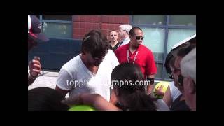 Patrick Rafter - Signing Autographs at the 2011 U.S. Open in Flushing Meadows