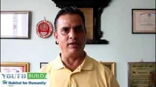 Youth Build 2014 - Message from Famous Actor Hari Bansha Acharya -- Habitat for Humanity Nepal