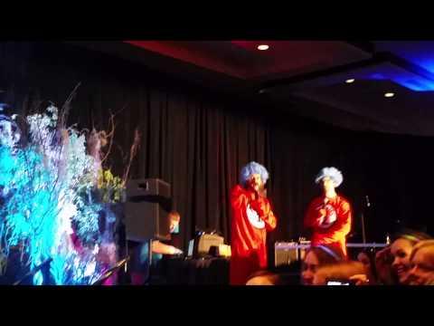 Richard and Rob during karaoke