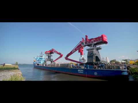 MANTSINEN 300 R Material Handler, delivery from Hanko to Ghent & Antwerpen