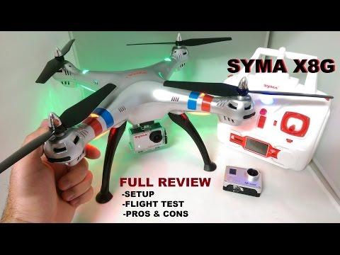 SYMA X8G Review - HD Quadcopter Camera Drone - [Setup - Flight Test - Pros & Cons]