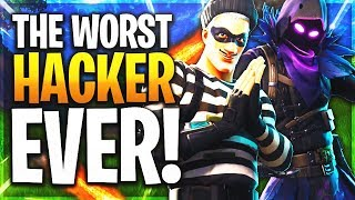 THE WORST HACKER IN FORTNITE! (FORTNITE HACKER - WALL HACKS & GOD AIM)