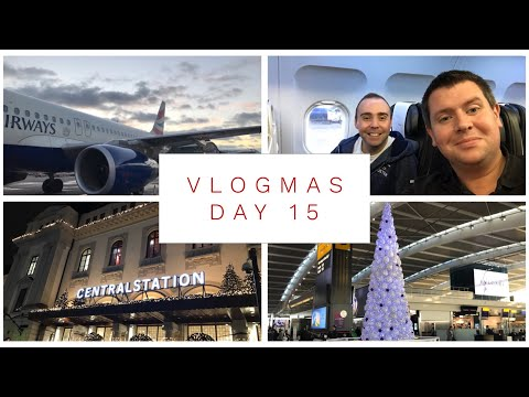 Vlogmas Day 15 - 2017 - WE'RE GOING TO SWEDEN! Travel day