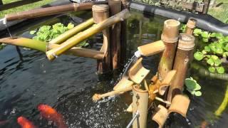 Bird Scarer Shishi Odoshi Fountain Made Of Bamboo Using My Panasonichdc-sd90