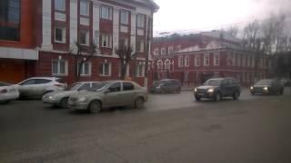 Город Киров из окна автобуса 21 автобусный маршрут 6 мая 2017 года Улица Воровского - улица Ленина