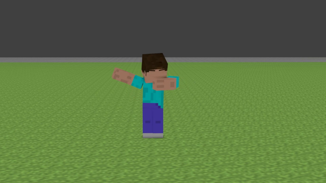 Minecraft Steve Dab A Blender Animation Youtube