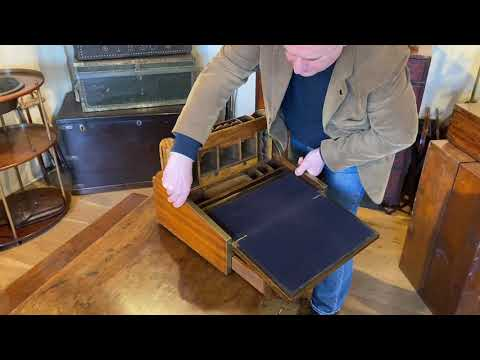 An antique Roll Top, Writing Slope