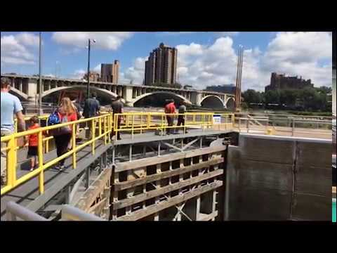 Visiting the Upper St. Anthony Falls Lock and Dam