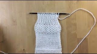 4. Вяжем простые узоры спицами:  резинка 1х1, крупинка Уроки вязания для начинающих Вязание спицами